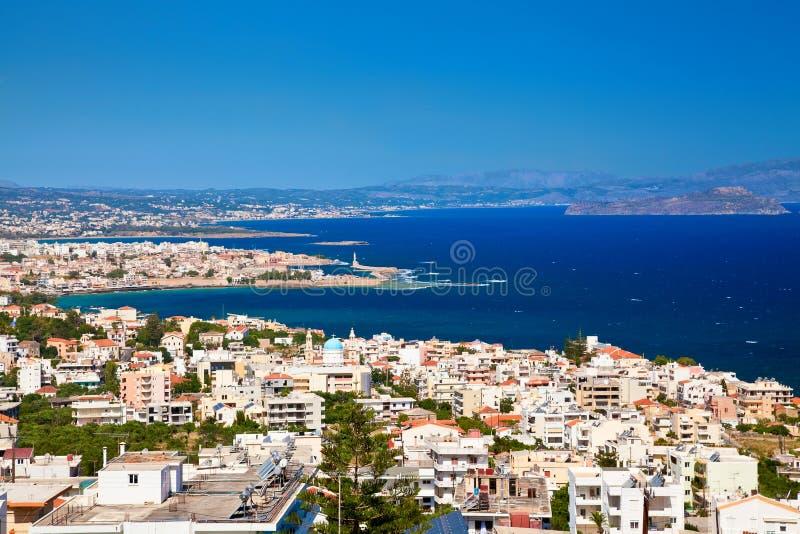 Ville de Chania d'en haut, Crète photographie stock