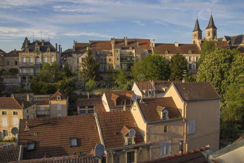 Ville de Chaumont, France image stock