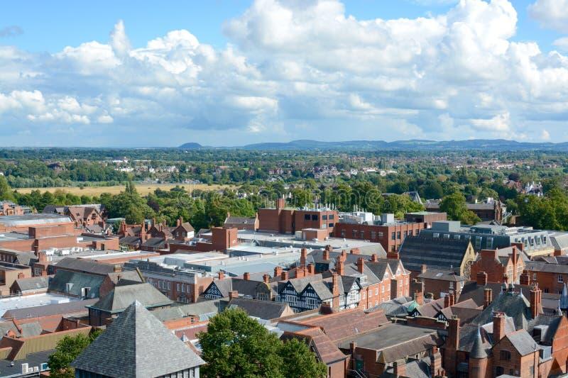 Ville de Chester, R-U image stock