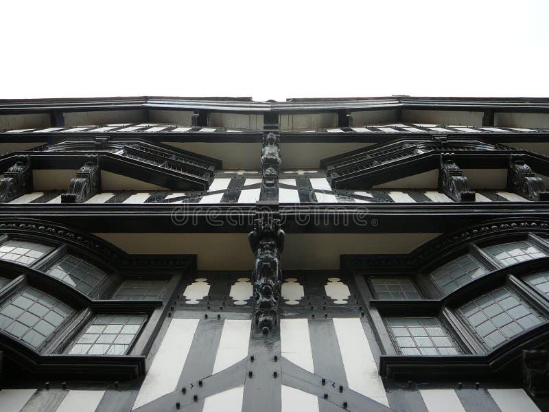 Ville de Chester Tudor Facade photo stock