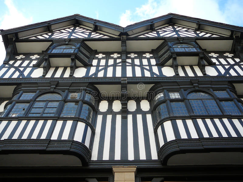 Ville de Chester Tudor Facade images libres de droits