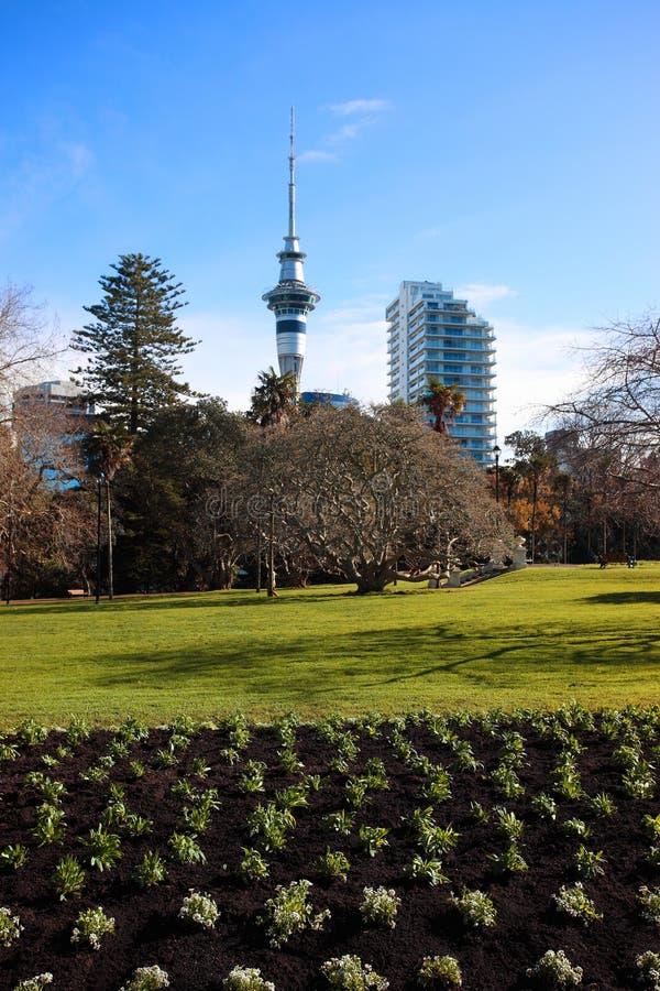 Ville de ciel d'Auckland photo stock