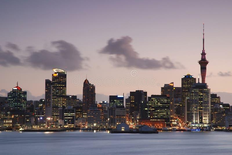 Ville de ciel d'Auckland, Nouvelle-Zélande images libres de droits