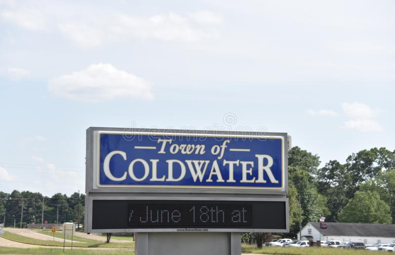 Ville de Coldwater Mississippi photographie stock libre de droits