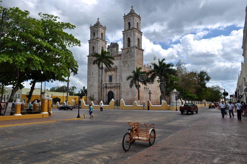 Ville de Colonial de Mérida Mexique photos libres de droits
