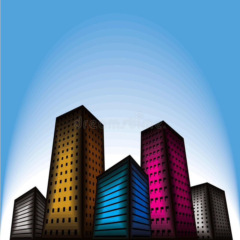 Ville de construction   illustration libre de droits