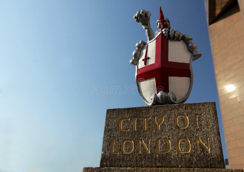 Ville de crête de Londres image libre de droits