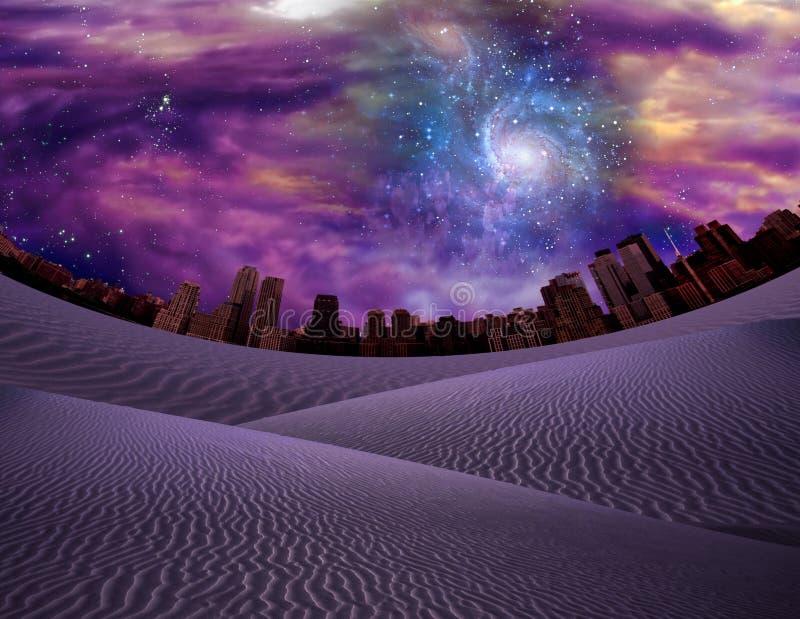 Ville de désert illustration libre de droits