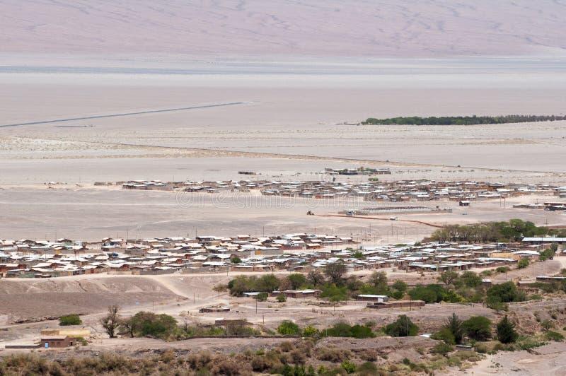 Ville de désert au Chili photo stock
