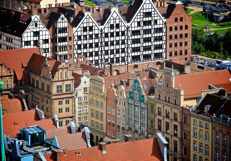 Ville de Danzig, Pologne images libres de droits