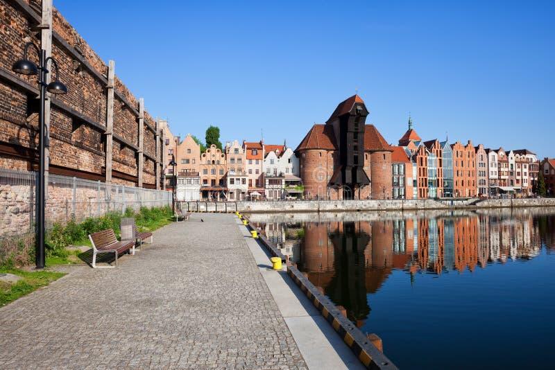 Ville de Danzig de promenade de rive photos libres de droits