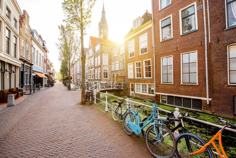Ville de Delft dans Netherland photographie stock