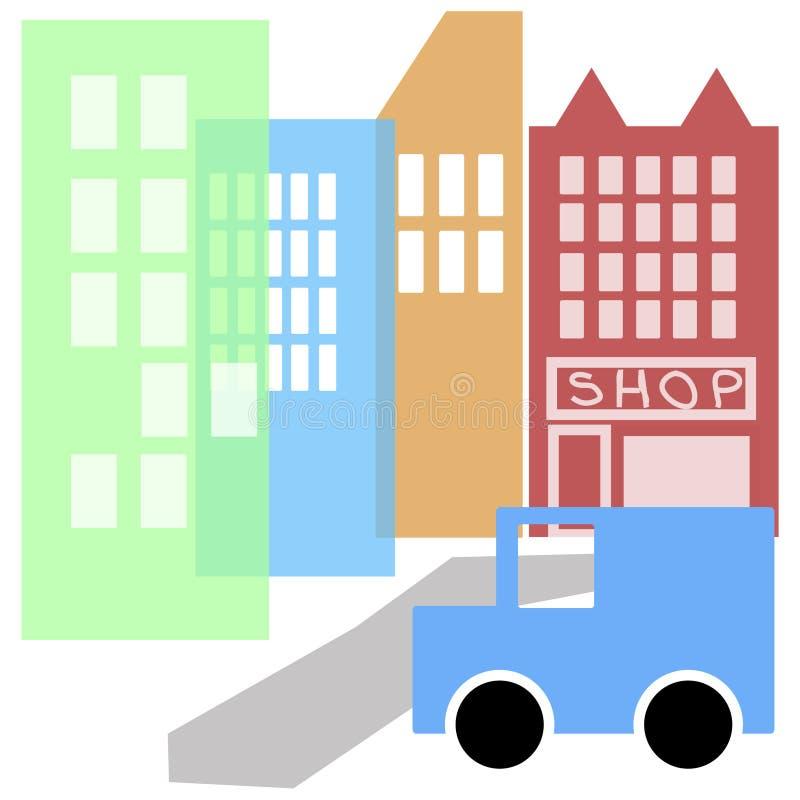 Ville de dessin animé illustration libre de droits