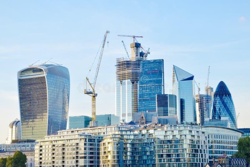 Ville de district financier de Londres image libre de droits