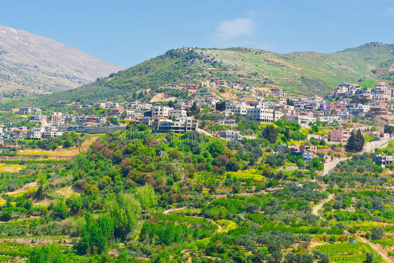 Ville de Druze photographie stock