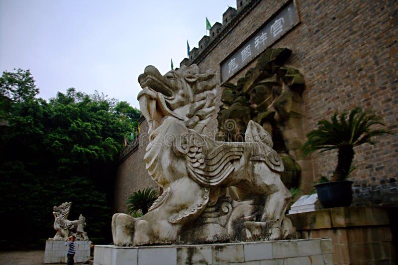 Ville de fantômes de Fengdu photos stock