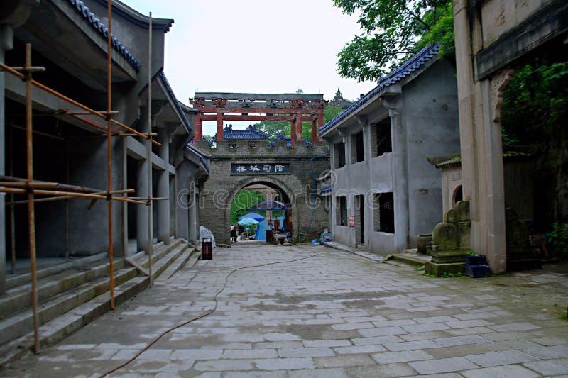Ville de fantômes de Fengdu image stock