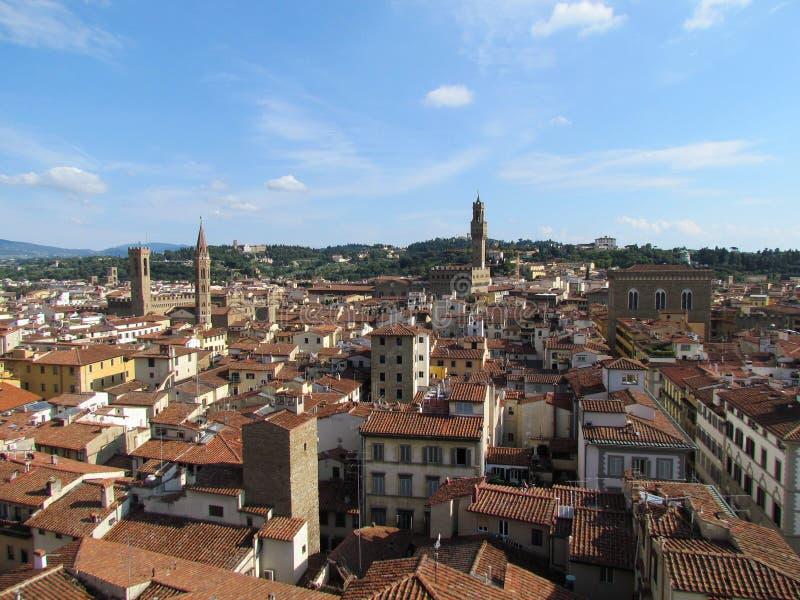Ville de Florence vue à partir du dessus - Italie images libres de droits