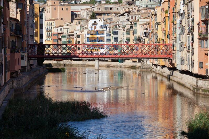 Ville de Gérone en Espagne photos libres de droits