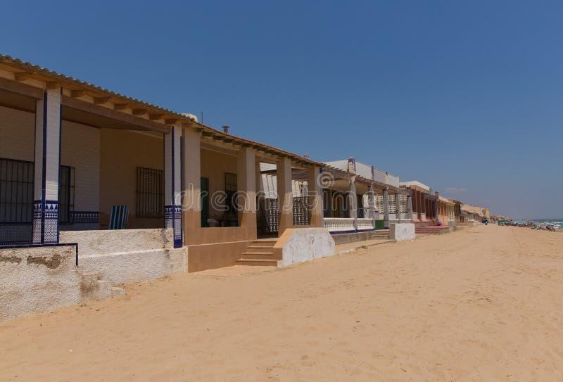 Ville de Guardamar De Segura Costa Blanca de plage de Playa Babilonia vieille photos libres de droits