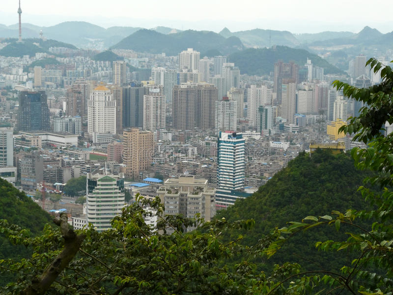 Ville de Guiyang, Chine photos libres de droits