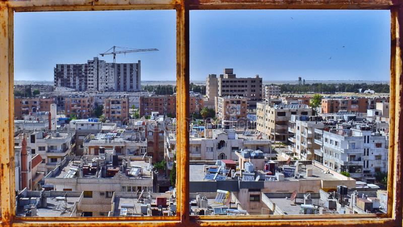 Ville de Homs en Syrie images libres de droits