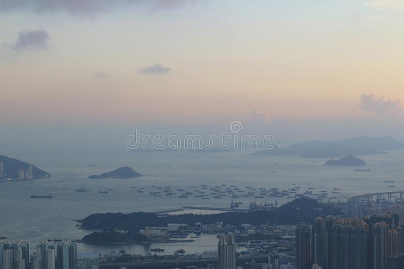 Ville de Hong Kong de Kowloon ? 2014 photographie stock