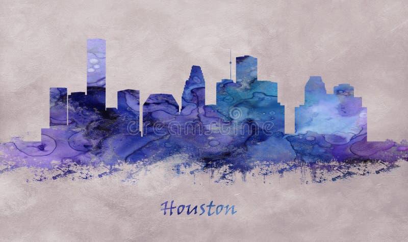 Ville de Houston dans le Texas, horizon illustration de vecteur