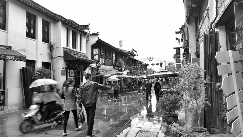 Ville de Huangshan photographie stock
