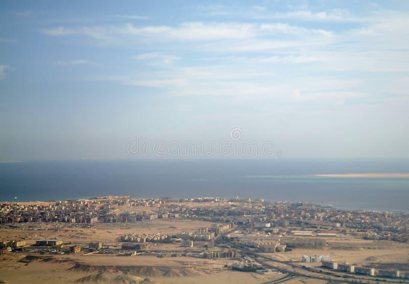 Ville de Hurghada sur la Mer Rouge. image libre de droits