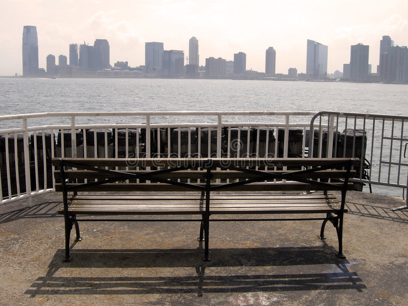 Ville de Jersey de Manhattan image libre de droits