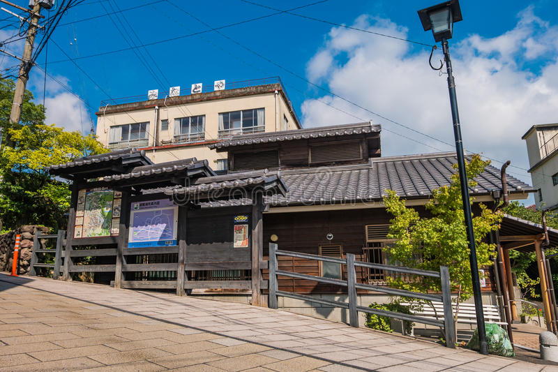 Ville de Kannawa pendant le matin photo stock