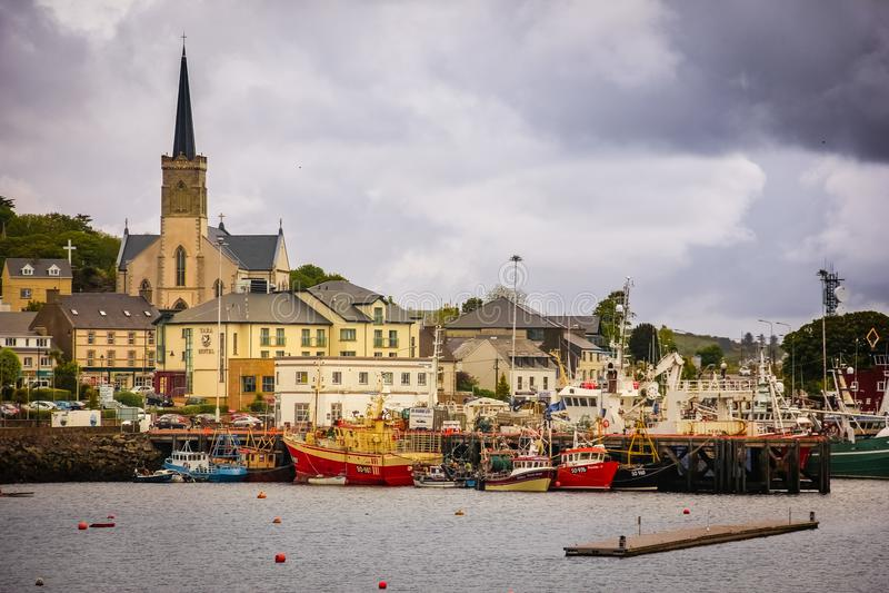 Ville de Killybegs Comté le Donegal l'irlande photos stock