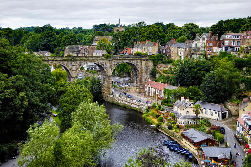 Ville de Knaresborough photographie stock libre de droits