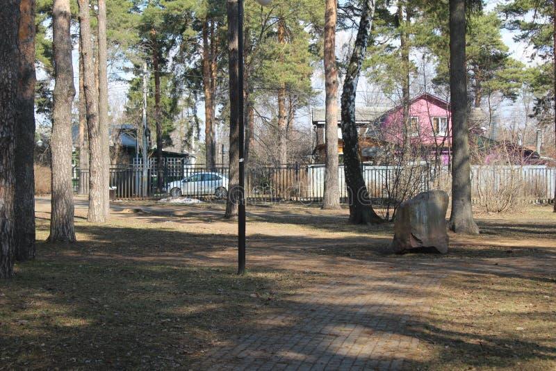 Ville de Korolev Valentinovka Place de Chvetaeva photos stock