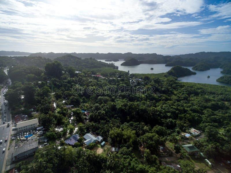 Ville de Koror en île de Palaos photos libres de droits