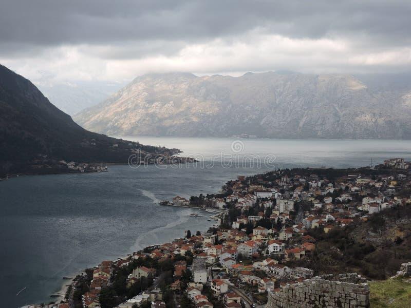 Ville de Kotor images stock