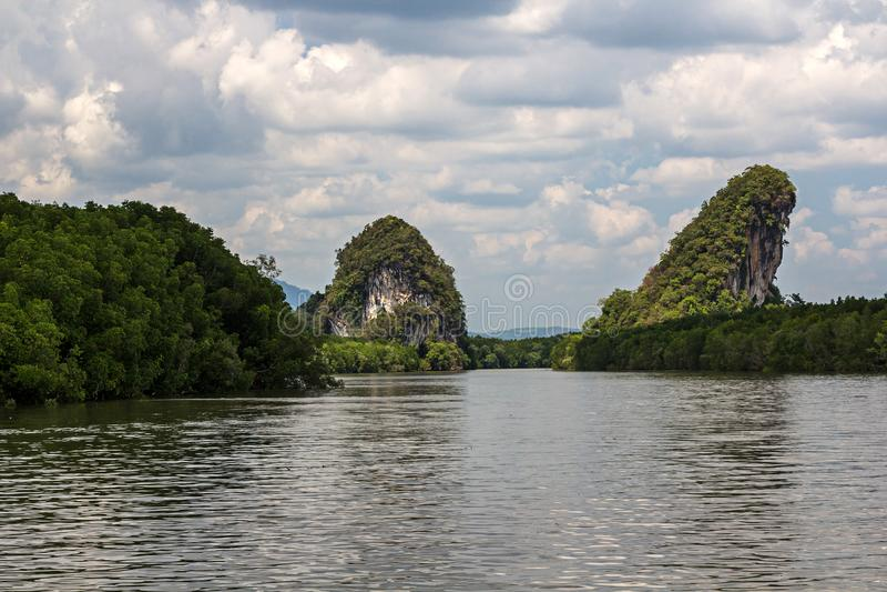 Ville de Krabi en Thaïlande, Asie image stock