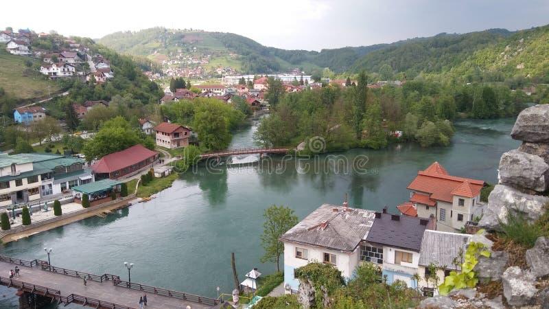 Ville de krupa de Bosanska, Bosnie-Herzégovine photographie stock libre de droits