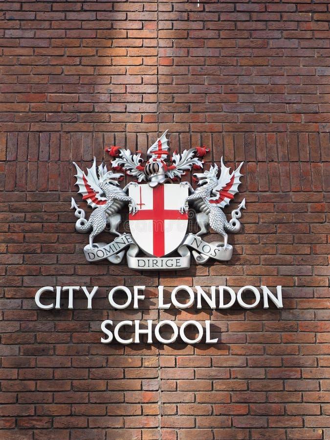 Ville de l'école de Londres, école de garçons à Londres photos libres de droits