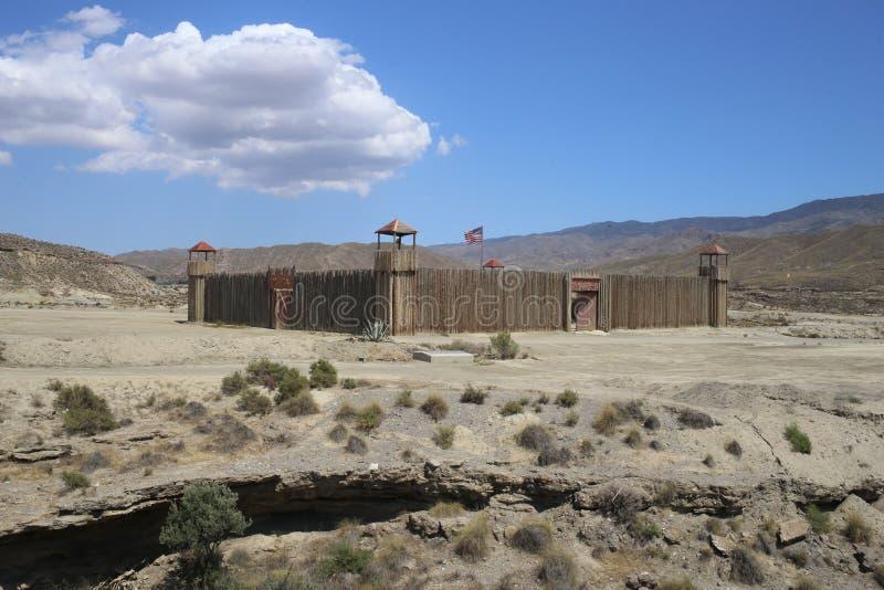 Ville de l'Américain occidental dans le bravo Almeria Andalusia de fort photos libres de droits