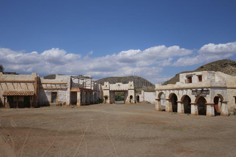 Ville de l'Américain occidental dans le bravo Almeria Andalusia de fort image libre de droits