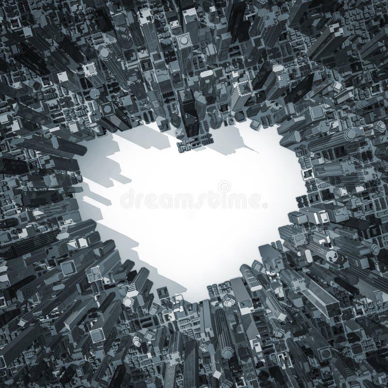 Ville de l'amour 2 illustration de vecteur