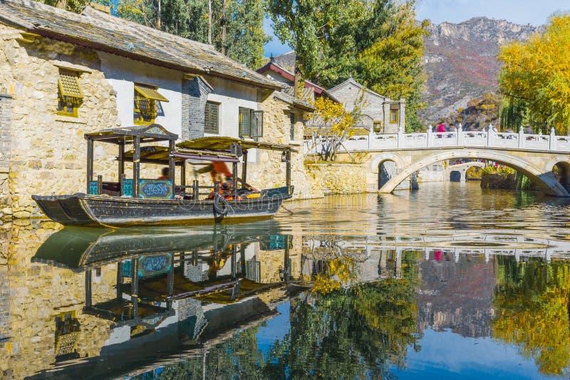 Ville de l'eau de Gubei dans Pékin images libres de droits