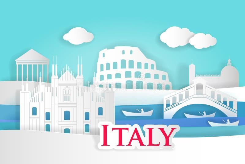Ville de l'Italie de bande dessinée illustration de vecteur