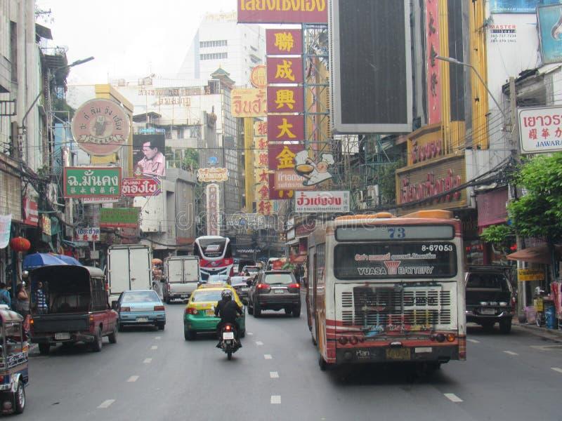 Ville de la Chine à Bangkok, Thaïlande photographie stock libre de droits