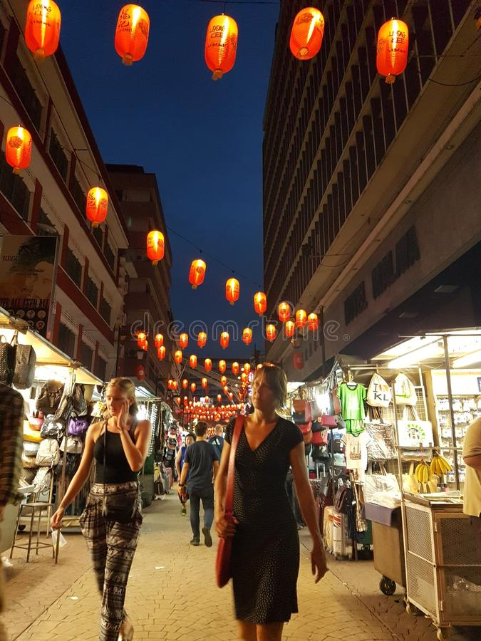 Ville de la Chine à la rue de Petaling, Kuala Lumpur Malaysia photographie stock