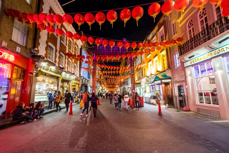 Ville de la Chine à Londres image libre de droits