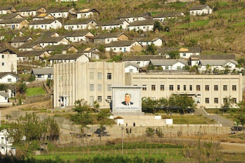 Ville de la Corée du Nord photo stock