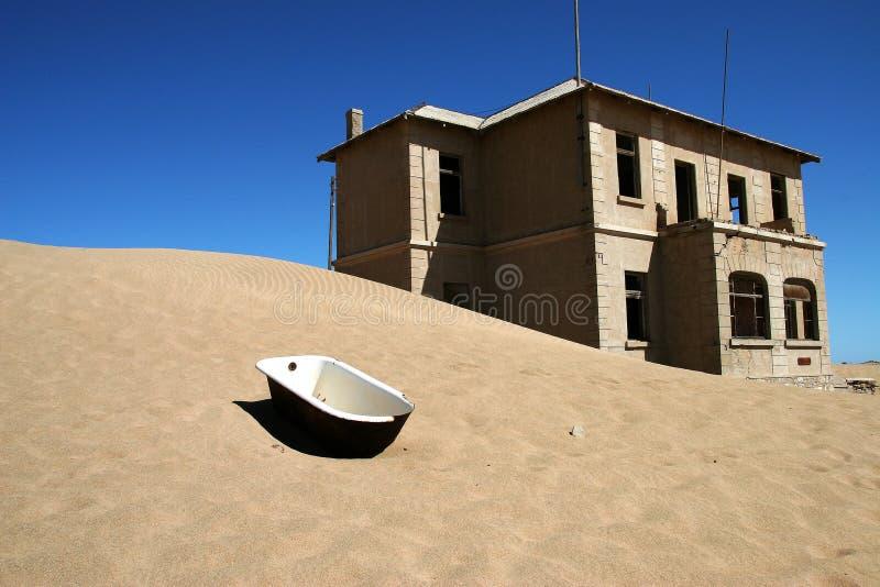 ville de la Namibie de kolmanskop d'ordinateur de secours images stock